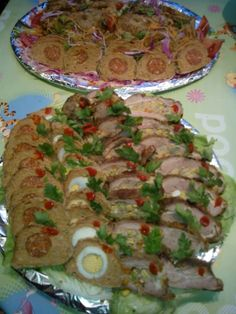 1474446_670091419697743_265057350_n (Large) Food Platters, Meat Recipes, Zucchini, Bacon, Food And Drink, Appetizers, Mexican, Meals, Vegetables
