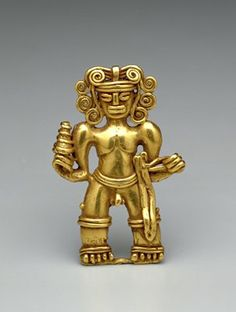 Pendant 8th-15th century  Artist Unknown (Chiriqui or Diquis) (Costa Rica, Central America)  Gold