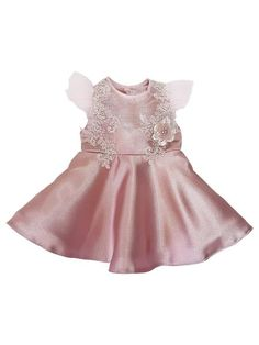 Kairo Rose Party Dress - Cherish by Carita Adams Rose Pink Dress, Pink Roses, Flower Girl Dresses, Legacy Collection, Exclusive Collection, Kairo, Princess Shoes, Flutter Sleeve, Special Occasion Dresses