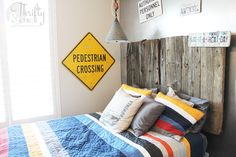 Thrifty and Chic - DIY Projects and Home Decor Parade Of Homes, Decorating On A Budget, Model Homes, Metal Walls, Boy Room, Kids Rooms, Living Rooms, Bedrooms, Diy Projects