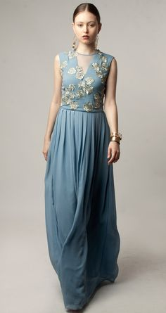 Powder blue pleated maxi dress available only at Pernia's Pop-Up Shop