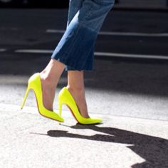 Neon heels - must stop buying only black and brown shoes!