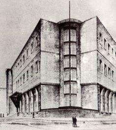 Giuseppe Samonà, Progetto Palazzo delle POste, Roma, 1933