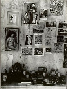 Pierre Bonnard studio wall by Brassai