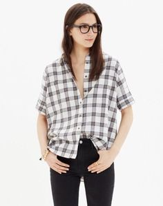 Madewell Courier Shirt in Blueridge Flannel Size S Sold Out #Madewell #ButtonDownShirt