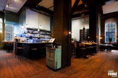 'Gewaagd proeflokaal' in Arnhem, The Netherlands. Interior design by Lenny Combé Design. Photography by Menno van der Meulen Liquor Cabinet, Flooring, Interior Design, Netherlands, Wall, Furniture, Photography, Home Decor, Nest Design