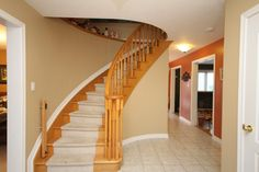 Front Foyer Pictures. Foyer Ideas. Carpet Runner Stairs. Tile Foyer. Curved  Staircase