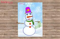 аппликация снеговик для детей из бумаги