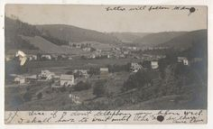RPPC Birds Eye View of COUDERSPORT PA Columbia County Real Photo Postcard