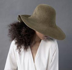 Clyde Folded Green Olive Hat | Remodelista