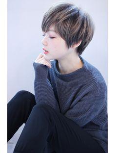 マリア(Maria by afloat) 【畑中正敏】斜めバング×マーメイドアッシュショートボブ