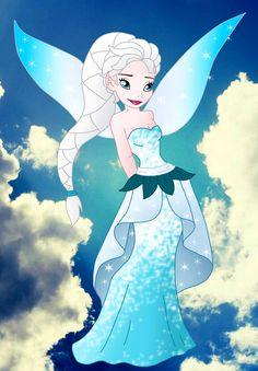 Elsa [as a fairy] (As Fairies by Willemijn1991 @deviantART) #Frozen