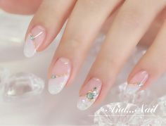 35 Simple Ideas for Wedding Nails Design 2 - Nails Art Ideas Simple Wedding Nails, Wedding Nails Design, Beautiful Nail Designs, Beautiful Nail Art, French Nails, Hair And Nails, My Nails, Gel Nagel Design, Japanese Nail Art