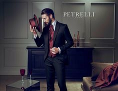 Petrelli uomo Gold collection man suits for wedding
