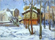 Wassily Kandinsky (1866-1944) Hiver à Schwabing (1902) oil on canvas