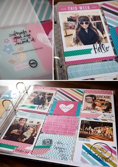 She gave up thousands in scrapbooking supplies to avoid the stress, now she does Project Life. Love her style.