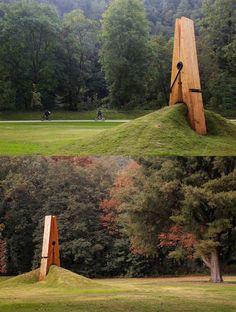 Instalação criada por Mehmet Ali Uysal, exibida no parque Chaudfontaine, na Bélgica. Por Criação Criativos.