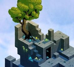 Isometric scene - Hexels paint over