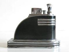 Vintage Art Deco RONSON Streamline Touch-Tip Table Lighter, USA