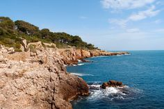 In The South of France: How To Hike Le Sentier du Littoral, Cap d'Antibes 4 Days In Paris, Cap D Antibes, Juan Les Pins, Windy Day, Wear Sunscreen, South Of France, Oh The Places You'll Go, Alps, The Rock