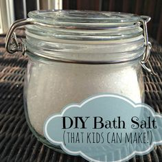This bath salt costs about a dollar per jar to make. It's so easy even my kid can make it, and give it as teacher gifts! It only takes two ingredients