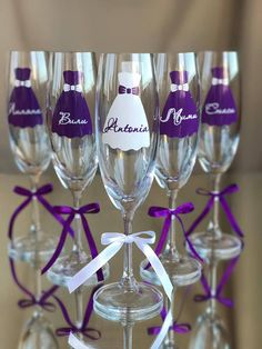 Excited to share this item from my shop: Personalized Bridesmaids Glasses, Purple Bachelorette Party Gifts, Team Bride Champagne Flutes, Bridal Shower Glasses, Bridesmaids Gift Set Bridesmaid Glasses, Rose Gold Bridesmaid, Wedding Glasses, Wedding Champagne Flutes, Bridal Wine Glasses, Bridesmaid Gifts From Bride, Champagne Glasses, Purple And Silver Wedding, Purple Wedding Cakes