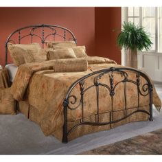 Jacqueline Antique Iron Bed | Iron Headboards, Iron Bedroom Set