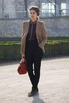 (via Camel and Black, Paris | Street Fashion | Street Peeper | Global Street Fashion and Street Style)