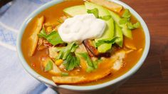 Slow-Cooker Chicken Tortilla Soup (E) Don't use cheese and use plan approved wraps and bake them.