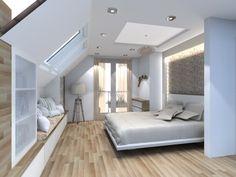 Loft Room, Bedroom Loft, Dream Bedroom, Master Bedroom, Bedroom Decor, Attic Bedroom Designs, Attic Bedrooms, Small Attic Bathroom, Loft Conversion Bedroom