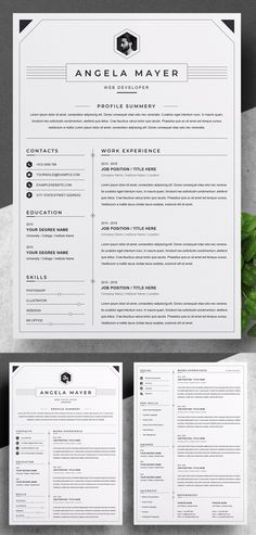 An another roundup of Simple Clean Resume Templates, ready to use print resume designs can assist you achieve your dreams. These best resume templates are hand Simple Resume Template, Resume Design Template, Creative Resume Templates, Cover Letter For Resume, Cover Letter Template, Microsoft Word Document, Perfect Resume, Resume Cv, Professional Resume
