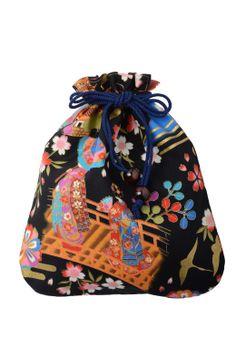Yukata kimono Market sakura / Kinchaku bag