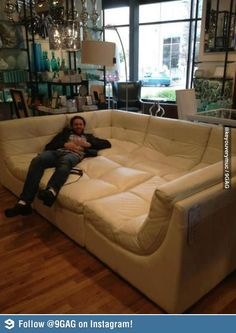 one 3 seater couch, two 1 seaters and one for legs, you can put them together to make it look like this! LOVE