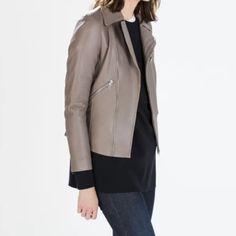 HOST PICKZara jacket New with tag. OUTER SHELL: 100% LAMBSKIN INSIDE: 100% POLYESTER Zara Jackets & Coats