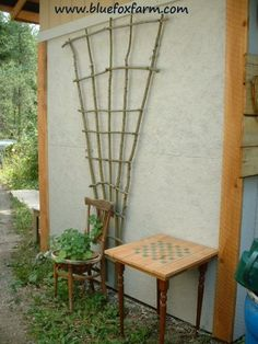 Twig Trellis - Build A Dramatic Focal Point To Decorate With Vines