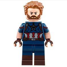 Infinity War Captain America Lego Spiderman, Lego Marvel's Avengers, Lego Marvel Super Heroes, Lego Custom Minifigures, Lego Minifigs, Lego Friends, Lego Star Wars, Lego Station, Lego Dc Comics