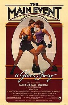 The Main Event is a 1979 comedy starring Barbra Streisand and Ryan O'Neal, written by Gail Parent and directed by Howard Zieff.  The film received negative reviews from critics, but was among the top 20 highest grossing films of the year at the box office. It was also the impetus for Barbra Streisand's first foray into disco[citation needed], singing the Golden Globe-nominated theme song written by Paul Jabara and Bruce Roberts.