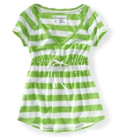 Striped Babydoll top from Aeropostale