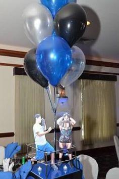 Bar Mitzvah centerpieces that featured the Bar Mitzvah boy vs a different wrestler! | MitzvahMarket.com