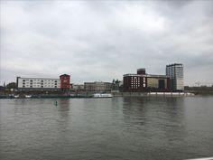 Mannheim industrial side of River Rhein