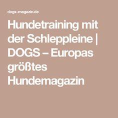 Hundetraining mit der Schleppleine | DOGS – Europas größtes Hundemagazin