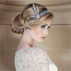 Hair accessories with an up style - elegant