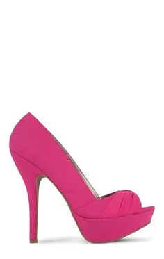 Deb Shops Peep Toe Platform Pump with Knot Over Toe $27.00