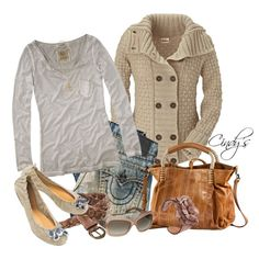 "Already have a sweater like this, now to put the rest of it together for fall.  ""True Religion Jeans Straight Leg"" by cindycook10 on Polyvore"