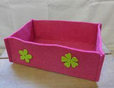 Filzkorb, Pink mit Blumen, 22.5x8x15 cm (BxHxT), CHF 16.- Pink, Felting, Florals, Do Crafts, Rose, Hot Pink, Pink Hair