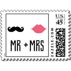 Kissing Booth - Mr + Mrs Postage Stamps