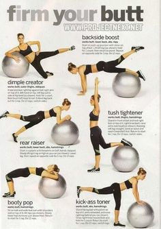 .fitball butt exercise ad workout