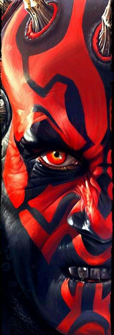 Bring the elegance and beauty of the galaxy to your very home with these one of a kind Star Wars paintings! Darth Maul Wallpaper, Star Wars Wallpaper, Star Wars Fan Art, Star Wars Sith, Clone Wars, Star Trek, Star Wars Painting, Fantasy Star, Star Wars Personajes