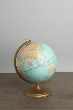 "One-of-a-Kind Vintage Globe  #UrbanOutfitters    turn vintage globe into vase, room decor in a playroom for play ""school,"" or into hanging lamps"