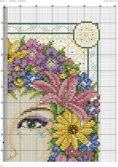 Summer Goddess by Joan Elliott (3 of 7), Cross Stitch Collection #211 July 2012